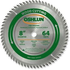 Oshlun SBW-080064 8-Inch 64 Tooth ATB Fine Finishing Saw Blade with 5/8-Inch ...