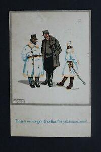 HUNGARY 1918 Postcard drawing of Herman Molzer