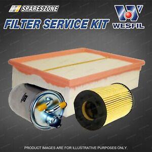 Wesfil Oil Air Fuel Filter Service Kit for Audi A4 B7 2.0L TDi 10/05-03/08