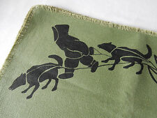 Set of Four Fantastic Vintage Eskimo/Inuit Fabric Table Mats Rare and in VGC
