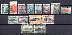 Greece 1927 Landscapes part I complete set used.