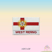 WEST RIDING UK County Flag With Name Embroidered Iron On Patch Sew On Badge