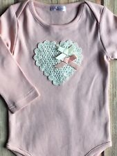 Valentines shirt size 9 12 months New Nwt girls boutique snap pink lace heart