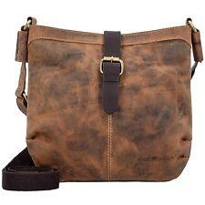 Greenburry Vintage Umhängetasche Handtasche Retro Schultertasche Leder 27 cm (vi