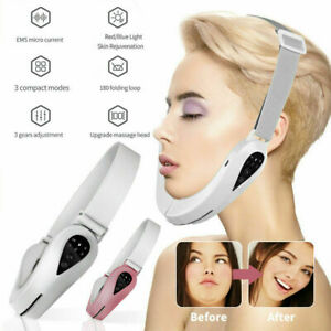 Electric V-Face Shaping Massager Face-Lift Slim Double Chin Removal Instrument .
