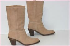 Eden Shoes Mid Boots Cavalièrs Suede Camel T 39 Very Good Condition