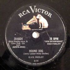 rockabilly 78 RPM ELVIS PRESLEY Hound Dog RCA HEAR VG+ Don't Be Cruel