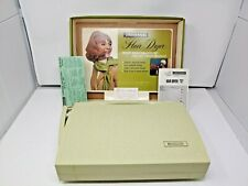 Vintage General Electric GE 1960's Universal Hair Dryer Case Box Display GREEN