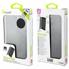 (RV404) JOBLOT of 33 x Muvit MUSLI0480 Slim Folio Case Black for HTC ONE (M8)
