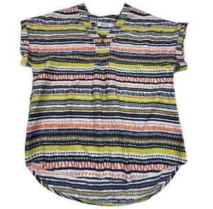 ELLIS & DEWEY   White Label   Women's Short Sleeve Top Blouse   Viscose   Size M