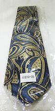 Irvine park men tie new 100% silk blue gold Paisley