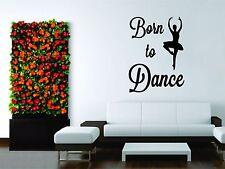 Wall Mural Vinyl Decal Decor Sticker Girl Love Dance Dancer Live Ballet