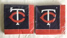 NEW Minnesota Twins Napkins - 48 Total - Hallmark MLB Baseball