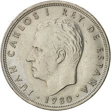 [#97309] Spain, Juan Carlos I, 5 Pesetas, 1980, EF(40-45), Copper-nickel, KM:817