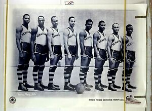 1996 CONVERSE Unreleased HARLEM Rens 1939 All Black Champion Basketball Poster