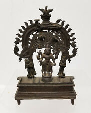 Antique Indian Bronze Deity Shrine Hindu Buddhist Early Vishnu