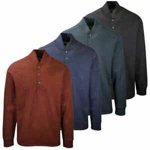 Eddie Bauer Men's Sherpa-Lined Thermal Henley L/S T-Shirt (Retail $90)