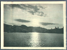 Schweiz, Luzern, Panorama Vintage silver print. Tirage argentique  8x11  C