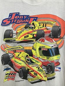 VTG TONY STEWART TEAM MENARD INDY RACING LEAGUE SHIRT XL