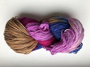 (5,30 € / 100 g) handgefärbte 8-fach 200g Sockenwolle nude blau versch.beeren
