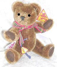 Clemens Miniatur Teddy aus dunkelbraunem Mohair 12,5 cm