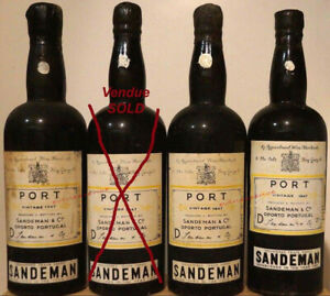 porto 1x SANDEMAN 1947 Vintage Port millésime bouteille 75cl portwein wine wein