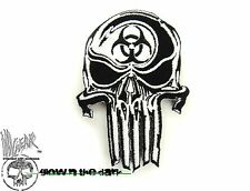 ill Gear PUNISHER Biohazard Skull Hook And Loop Patch GLOW IN THE DARK GID GITD