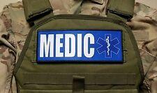 "3x8"" MEDIC Blue EMT EMS Morale Patch for Plate Carrier or Chest Rig Ambulance"