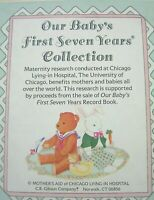 Our baby's First Seven Years record keepsake book Mother's Aid Chicago NIB 1989
