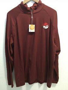 Puma X Malbon Golf 1/4 Zip Pop Over Sweatshirt Pomegranate Sz Xl (nwt)