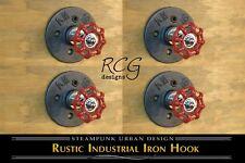 4-pack! Industrial Pipe Knob Hook D urban steampunk rustic decor