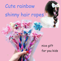 Bows Hair Bands Girls Mermaid Bowknot Headband Hair Tie Kids Long Braid Pigtails