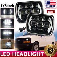 """7x6 5X7""""INCH 105W LED Headlight for Chevy Express Cargo Van 1500 2500 3500 Truck"""