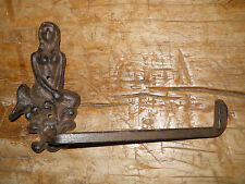 Cast Iron Antique Style Mermaid Toilet Paper Holder or Towel Bar Nautical Decor