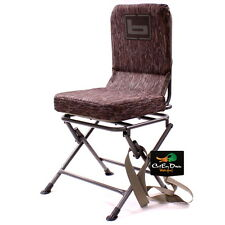 NEW BANDED SWIVEL BLIND CHAIR PADDED SEAT HUNTING STOOL BOTTOMLAND CAMO REGULAR