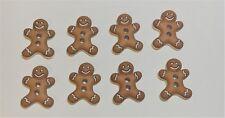 8 botones de pan de jengibre hombre, miniaturas, Coser Botones