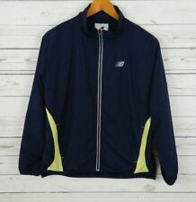 New Balance Tracksuit Top Track Jacket Blue Running Workout Sz L Zip Front B4