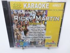 Ricky Martin vol 1 Chartbuster 40037 KARAOKE CD+G player needed new sealed T54
