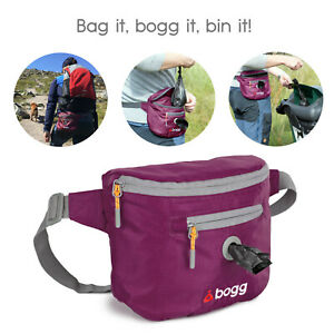 bogg bumbag - Dog walking waist bag - Poop bag dispenser & waste carrier - Wine