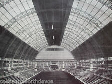 ANTIQUE PRINT 1926 ROOF OF OLYMPIA LONDON WESTMINSTER HALL & HALL MIDDLE TEMPLE