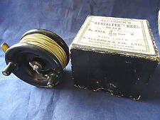 """A SCARCE SIZE 3"""" BOXED VINTAGE ALLCOCK'S AERIALITE CENTREPIN REEL"""