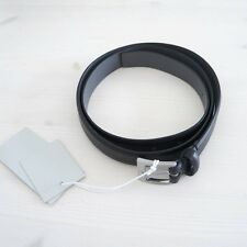HOF115: COS Gürtel echt leder schwarz / Slim genuine leather belt black L