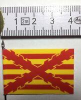 3x 25mm 28mm Spanish Napoleonic Flags Regiment TOLEDO 1st 2nd /& 3rd Battalion