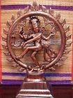 17inch Dancing Lord Shiva Natraj God of Dance Natraja Copper Plated Metal Statue