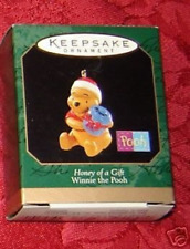 Winnie the Pooh Honey of a Gift 1997 Miniature Hallmark Ornament