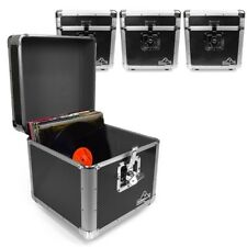 "Gorilla LP100 12"" LP Vinyl Record Box DJ Storage Carry Case (Carbon Black) x4"