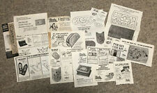 Vtg Lot of Tandy Leather Co 17 Photocarve patterns Wallet Change Key Purse Boot