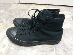 Size 10 mens 12 women's Converse Chuck Taylor All Star High All Black - M3310