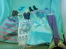 Disney Princess Frozen/Little Mermaid Dress And Shoe Lot