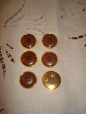 6 SUPERBES BOUTONS dorés/marrons (Haute Couture)